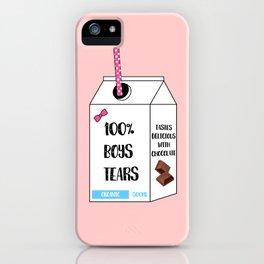 boys tears iPhone Case