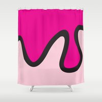 ice cream Shower Curtains featuring Ice Cream by Dale J Cheetham