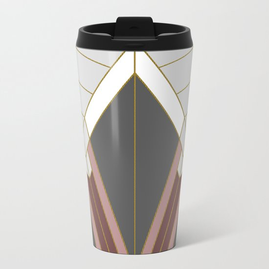 ART DECO G1 (abstract) Metal Travel Mug