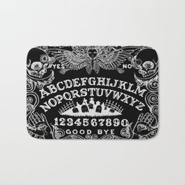 Ouija Board Black Bath Mat