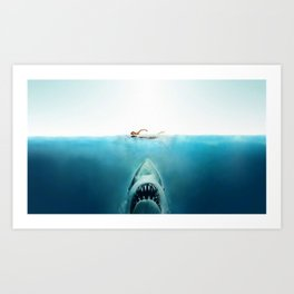First And Last Swim Of The Day Art Print