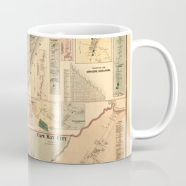 Map Of Cape May 1872 Coffee Mug