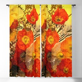 Poppy Expressions Blackout Curtain