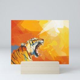 Tiger in the morning Mini Art Print
