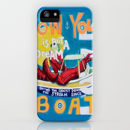 Row Your Boat Lobster Yacht iPhone Case
