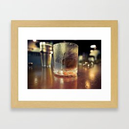 A Father's Drink Framed Art Print