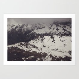 M is For Mountains Art Print