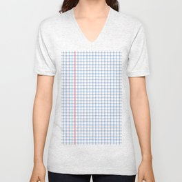 Dotted Grid Red and Blue Unisex V-Neck