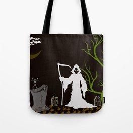 Grim Reaper Cemetary Tote Bag
