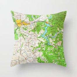 WA Spokane 243955 1955 Topographic Map Throw Pillow