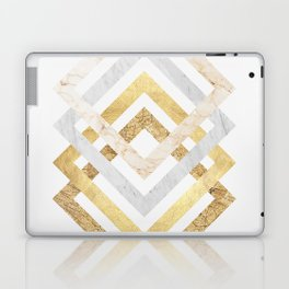 Marble and gold squares Laptop & iPad Skin
