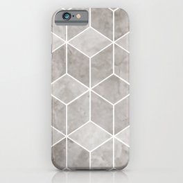 Geometric, Mable, Stone, Pattern, Gray iPhone Case