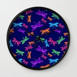 Dragon fly pattern Wall Clock
