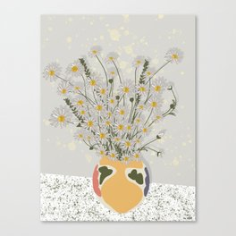 on the  marble Canvas Print