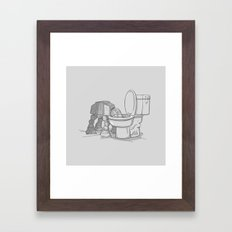 Bad, bad Walker Framed Art Print