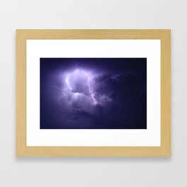 Lightning Imbalance  Framed Art Print