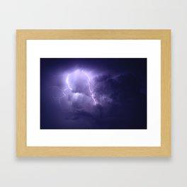 Lightning Imbalance  Framed Art Print