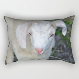 White Baby Goat Rectangular Pillow