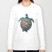 sea turtle Long Sleeve T-shirts featuring Turtle by Elise Cayouette