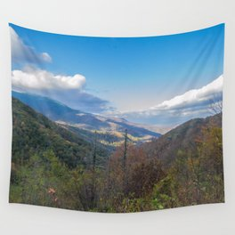 Blue Ridge Peaks Wall Tapestry