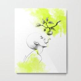 Original sin | Green watercolor Metal Print