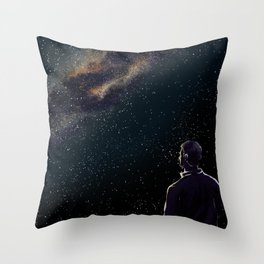 Rodney Under The Milky Way Throw Pillow