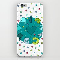 numbers iPhone & iPod Skins featuring Numbers by Bea Blanco