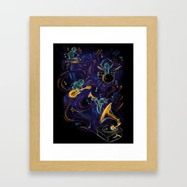 Two Turntables and a Gramophone  Framed Art Print