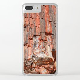 Agathe Log Texture Clear iPhone Case