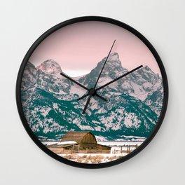 Grand Tetons Barn Wall Clock
