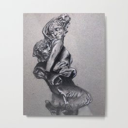 Triton and Nereid Metal Print