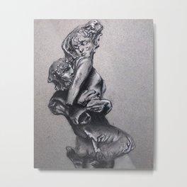 Triton and Nereid Metal Print