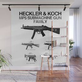 MP5 SUBMACHINE GUN FAMILY Wall Mural