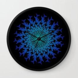 Ombre Tribal Hammerhead Mandala Wall Clock