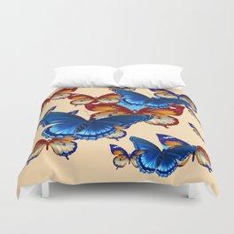 #2 MODERN ART DECORATIVE BLUE-BROWN  BUTTERFLIES Duvet Cover