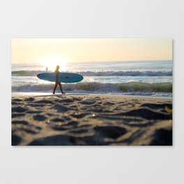 Surf at Sunrise Canvas Print