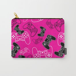 Video Games Pink Carry-All Pouch