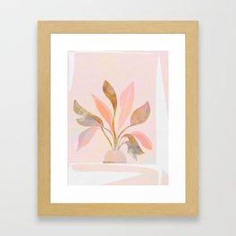 Blush Jungle Home Plant Framed Art Print