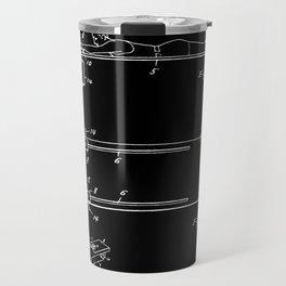 Surfboard Patent - Black Travel Mug