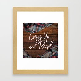 Cozy Up and Read Framed Art Print