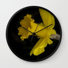 blossoms on black background -03- Wall Clock