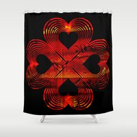 valentines Shower Curtains featuring Valentines - Lucky in Love by Khana's Web