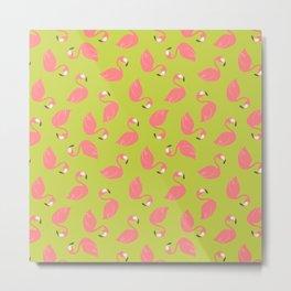 Pinkie - Green Background Metal Print