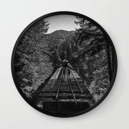 Vance Creek Bridge, Shelton, WA Wall Clock