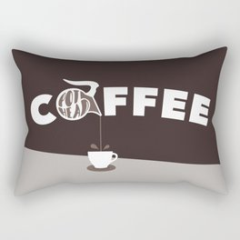 Coffee Pot Head - Brown Rectangular Pillow