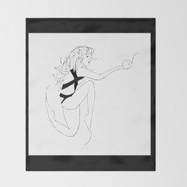 Bubble Girl  Throw Blanket