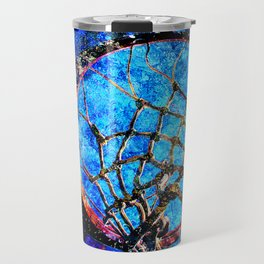 Sports art - Basketball hoop and net vs 180 Travel Mug