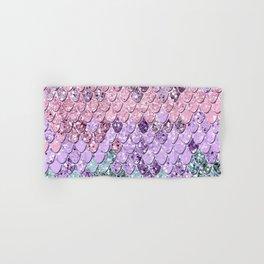 Mermaid Scales with Unicorn Girls Glitter #1 #shiny #pastel #decor #art #society6 Hand & Bath Towel