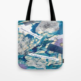 Petals and Snow Tote Bag