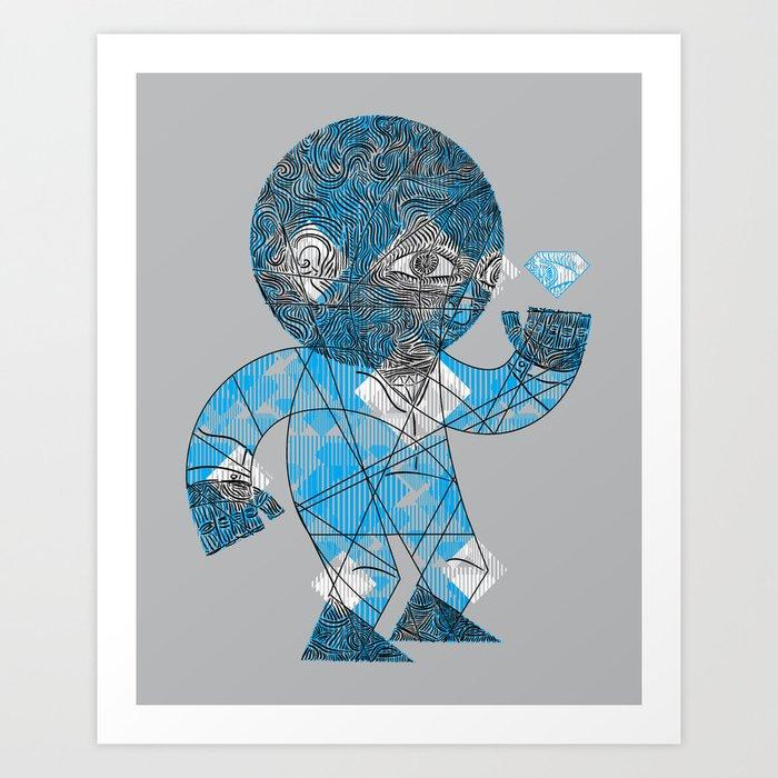 mesmerized by the light blue diamond Art Print